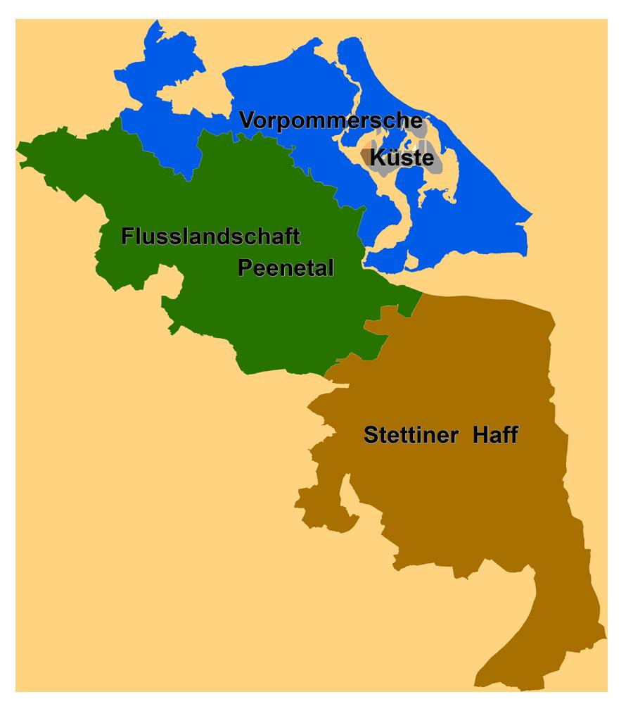 LEADER-Regionen im Landkreis Vorpommern-Greifswald