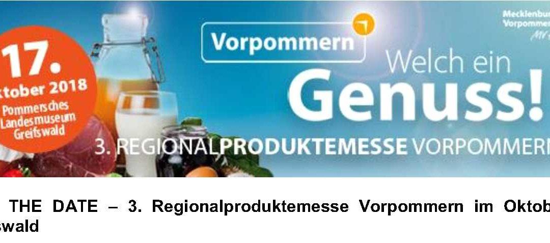 17. Oktober in Greifswald – Dritte Regionalproduktmesse Vorpommern