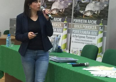 Agnieszka Brodowska, Vizepräsidentin des Zusammenschlusses Lokaler Aktionsgruppen Westpommerns